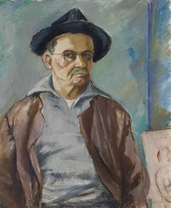 Tyko Sallinen: Omakuva hattu päässä, 1942 © HAM / Kuva: Yehia Eweis