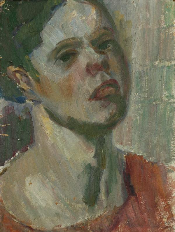 Helmi Vartiainen: Omakuva, 1917-1919 © Hämeenlinnan taidemuseo / Kuva: Reima Määttänen