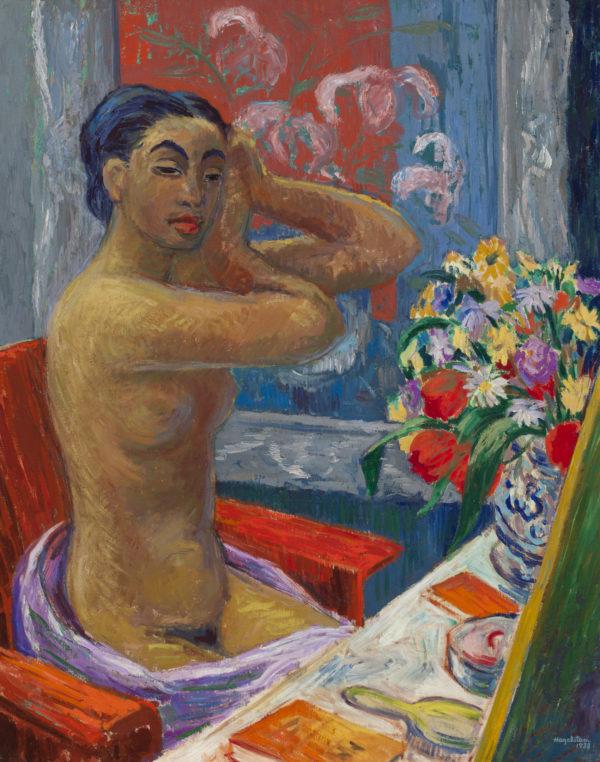 Hjalmar Hagelstam: Moumoune peilin ääressä, 1938© HAM / Kuva: Yehia Eweis